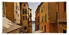 Street In Villefranche II Beach Towel