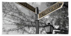 Street Signs On Grand Turk Beach Sheet
