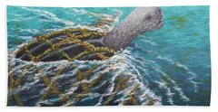 Struggle -leatherback Sea Turtle Beach Towel