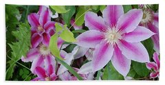 Summer Clematis Beach Towel