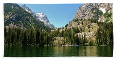 Summer Day At Jenny Lake Beach Towel
