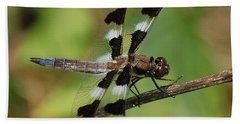 Summer Dragonfly Beach Towel