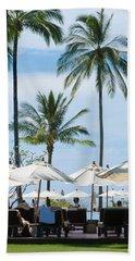 Sunbath Near The Pool Beach Towel by Atiketta Sangasaeng