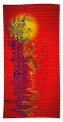 Beach Towel featuring the digital art Sundance by Vicki Pelham