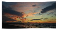 Beach Towel featuring the photograph Sundown  by Barbara McMahon