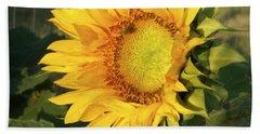 Beach Towel featuring the digital art Sunflower Digital Art by Deniece Platt