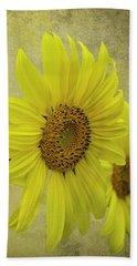 Sunflower Trio Beach Sheet by Diane Schuster