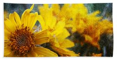 Sunflowers Beach Towel by Alyce Taylor