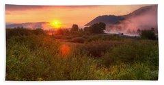 Sunrise At Snake River Beach Towel