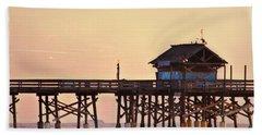 Beach Sheet featuring the photograph Sunrise On Rickety Pier by Janie Johnson