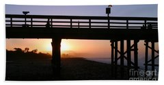 Sunrise Pier Ventura Beach Towel