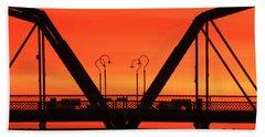 Sunrise Walnut Street Bridge Beach Towel