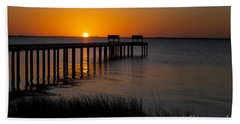 Sunset Across Currituck Sound Beach Towel
