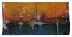 Beach Towel featuring the painting Sunset At The Lake # 2 by Nicole Nadeau