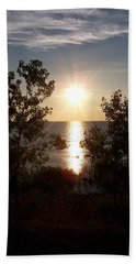 Sunset At The Point Beach Towel