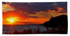 Beach Sheet featuring the photograph Sunset By The Beach by Davandra Cribbie