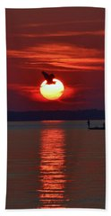 Sunset Fishing Beach Towel