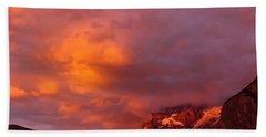 Sunset Murren Switzerland Beach Towel