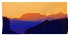 Sunset Over The Sierra Gigantes Beach Sheet by Anne Mott