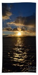 Sunset Over Winnepesaukee Beach Towel