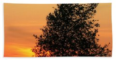 Sunset Square Beach Towel by Angela Rath