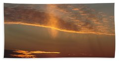 Beach Towel featuring the photograph Sunset With Mist by Daniel Reed