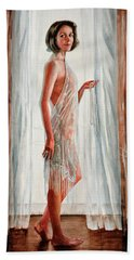 Survivor Self-portrait Beach Towel