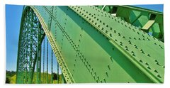 Beach Towel featuring the photograph Suspension Bridge by Sherman Perry