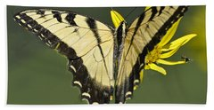 Swallowtail And Friend Beach Towel