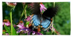 Swallowtail In Motion Beach Towel by Sue Stefanowicz
