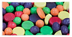 Beach Towel featuring the photograph Sweet Candy Galore  by Sherry Hallemeier