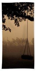 Swing In The Fog Beach Sheet by Cheryl Baxter