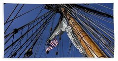 Tall Ship Rigging Beach Towel