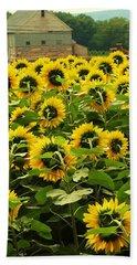 Tall Sunflowers Beach Towel