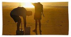 Beach Sheet featuring the photograph Teach A Man To Fish... by Eric Tressler