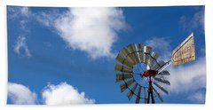 Temecula Wine Country Windmill Beach Towel