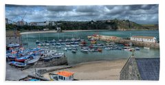 Beach Towel featuring the photograph Tenby Harbour Pembrokeshire 2 by Steve Purnell