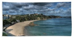 Beach Towel featuring the photograph Tenby North Beach Pembrokeshire  by Steve Purnell
