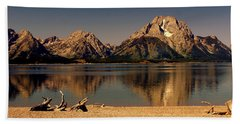 Beach Towel featuring the photograph Teton Panoramic by Marty Koch