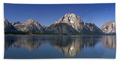 Beach Towel featuring the photograph Teton Panoramic View by Marty Koch