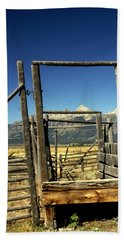 Beach Towel featuring the photograph Teton Ranch by Marty Koch