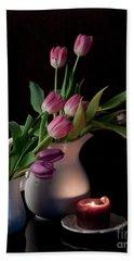 The Beauty Of Tulips Beach Sheet