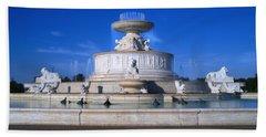 Beach Sheet featuring the photograph The Belle Isle Scott Fountain by Gordon Dean II