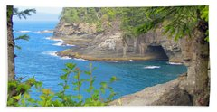 Beach Sheet featuring the photograph The Caves Of Cape Flattery  by Tikvah's Hope