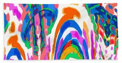 The Colors Fountain Beach Towel