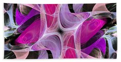 Beach Towel featuring the digital art The Dancing Princesses Abstract by Andee Design