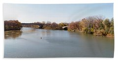 Beach Towel featuring the photograph The Erie Canal Crossing The Genesee River by William Norton