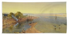 The Ganges Beach Towel by William Crimea Simpson