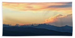 Beach Towel featuring the photograph The Idaho Selkirks by Albert Seger