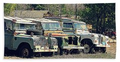 The Land Rover Graveyard Beach Towel